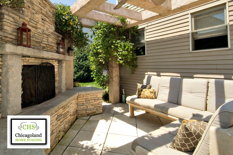 Chicagoland Home Staging: Outdoor space adds value to a home.