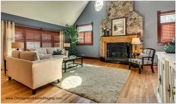 fireplace staging in naperville