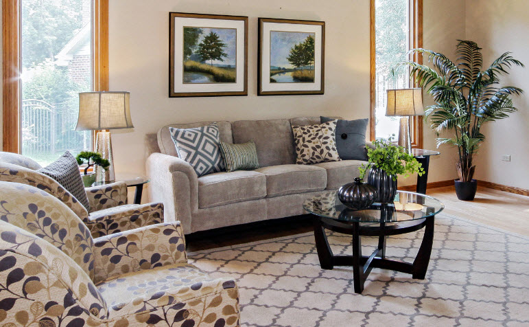 5 home staging tips for bookshelves chicagoland home staging for Tips for formal living room ideas