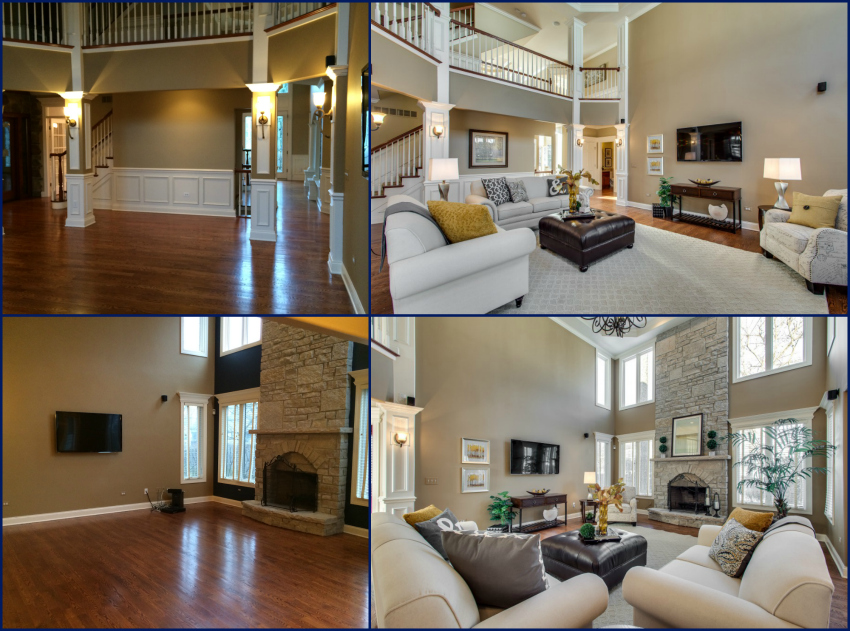 Before and After Staging in Naperville, IL