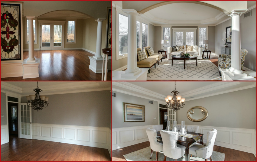 LR DR Before and Afters home staging photos