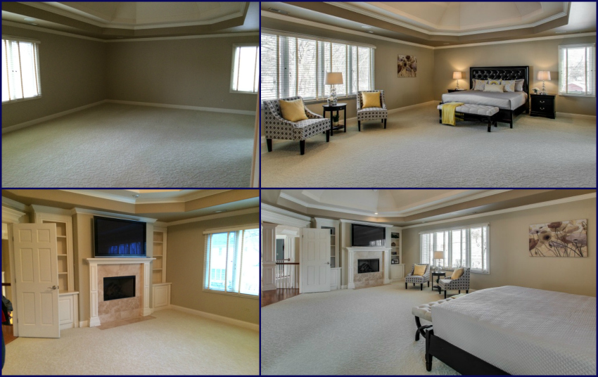 Naperville home staging gig goes younger and brighter chicagoland home staging Master bedroom home staging