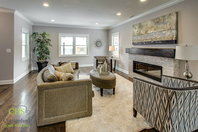 Portage Park Vacant Staging Comes Alive