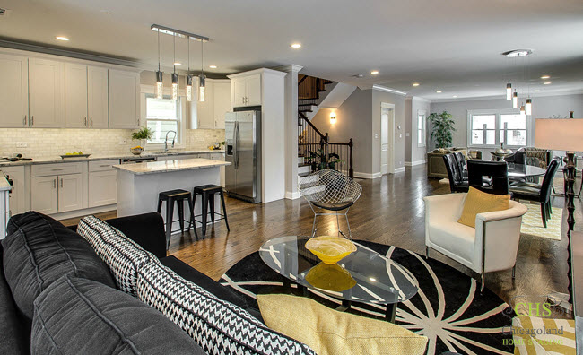 Vacant staging in portage park