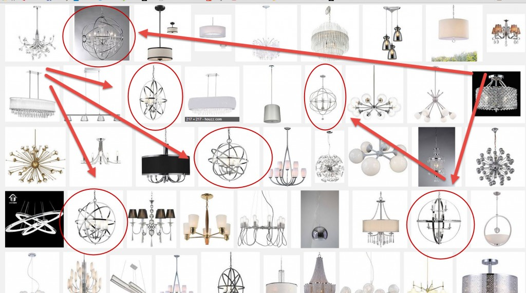 Designer Lighting options for Globe silver chandelier