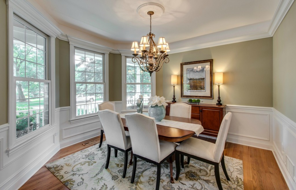 naperville dining room after home staging for sale