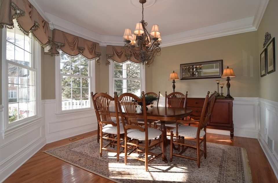 Naperville home staged dining room