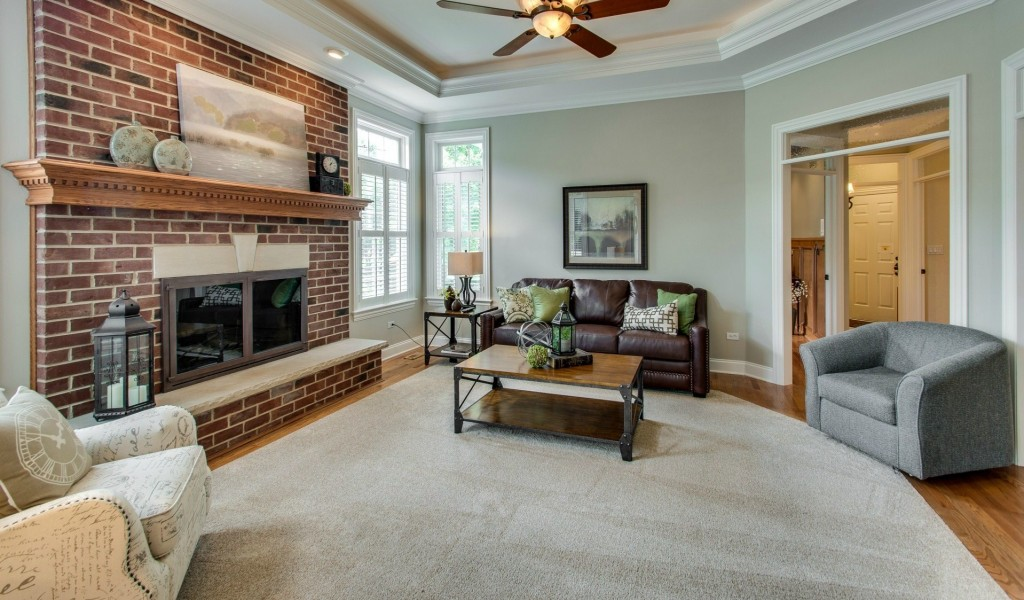 home staging in Naperville the family room