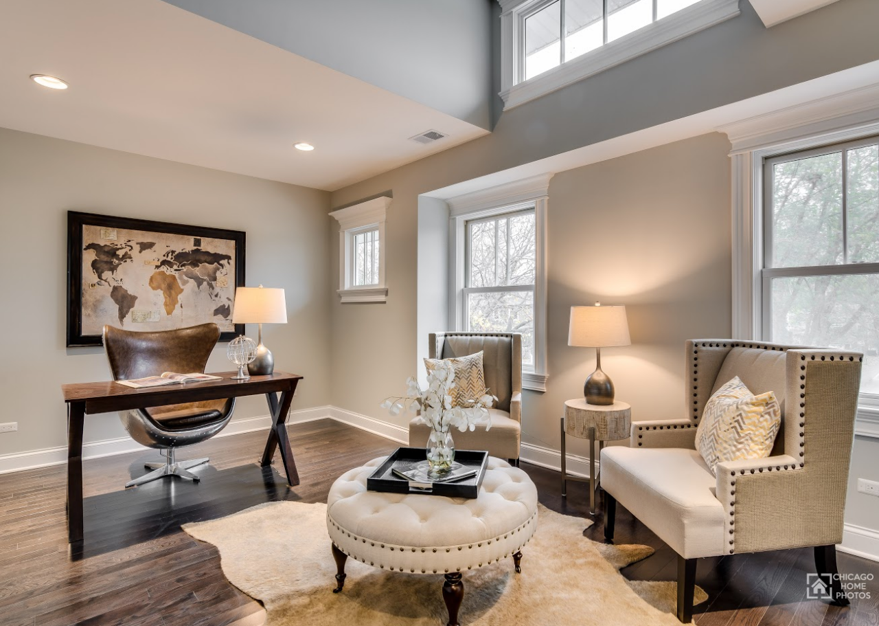 4 ways to stage an office space in your naperville home. Black Bedroom Furniture Sets. Home Design Ideas