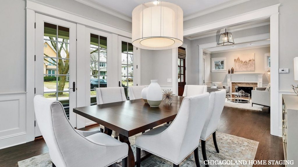 Chicagoland Home Staging Dining Room Hinsdale