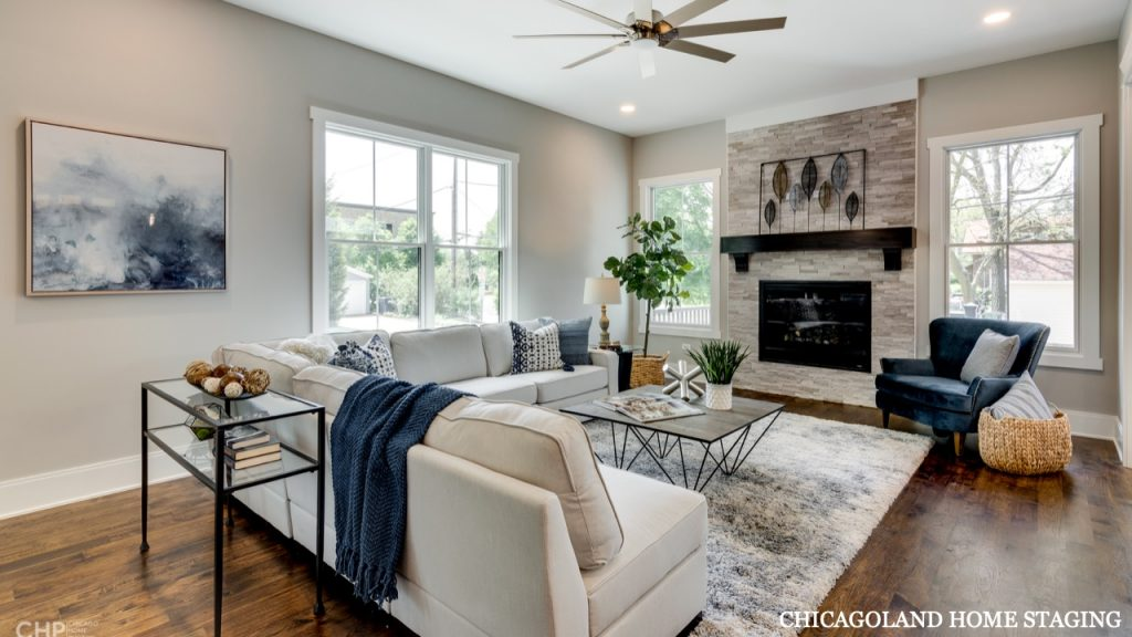 Chicagoland Home Staging Living Room Naperville