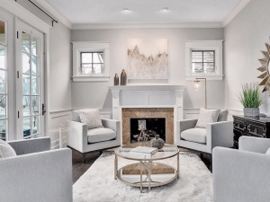 Chicagoland Home Staging Design Living Room
