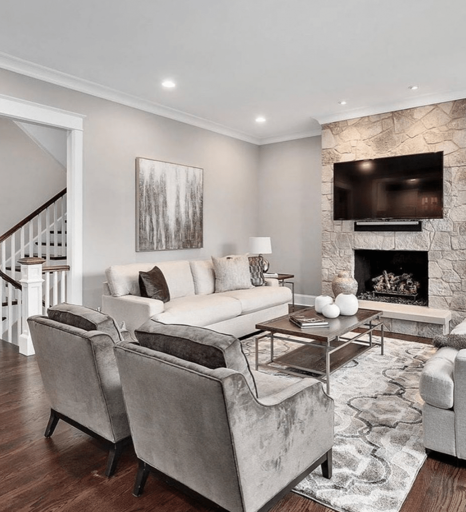 Chicagoland Home Staging Hinsdale Family Room