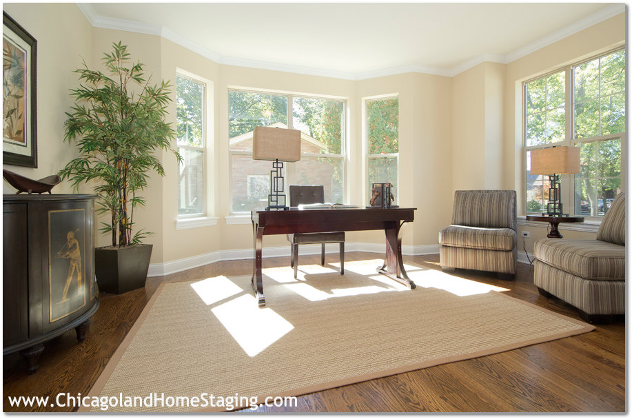 staging in a home office