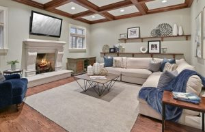 home staging tips for built-in shelving