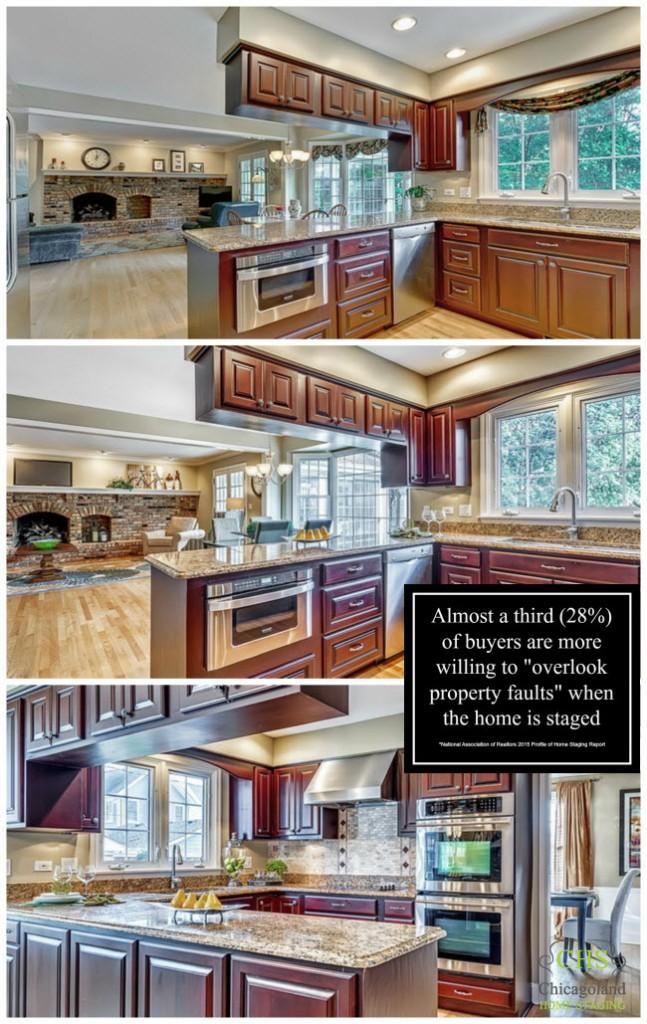 Kitchen Staging Collage