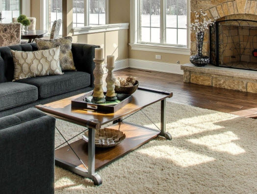 how to decorate a coffee table family room example