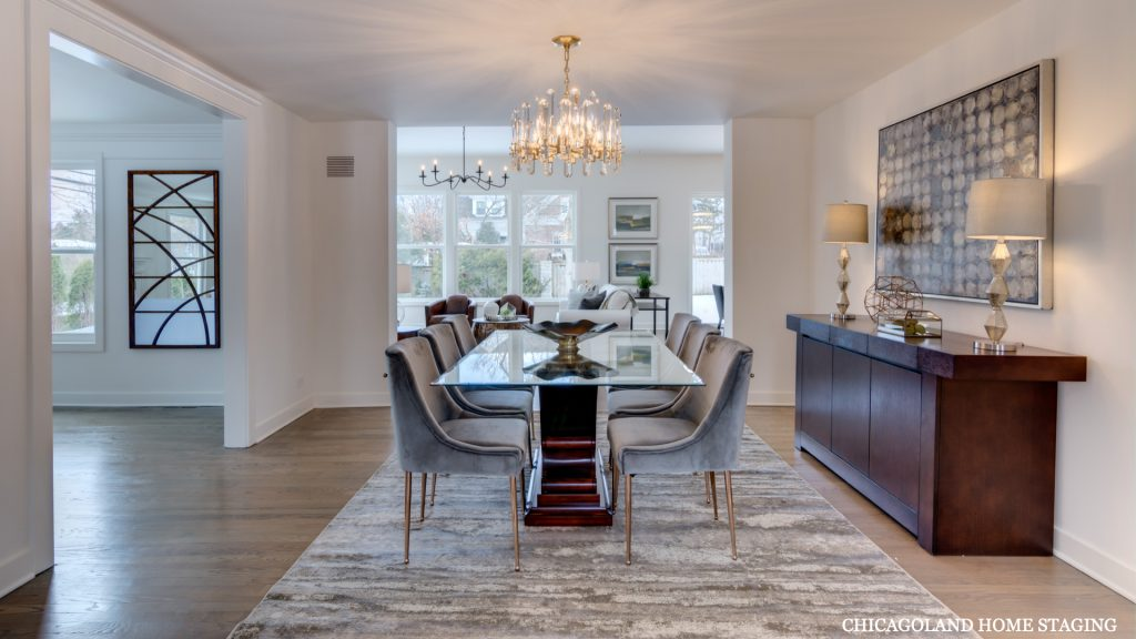 Chicagoland Home Staging Dining Room Geneva