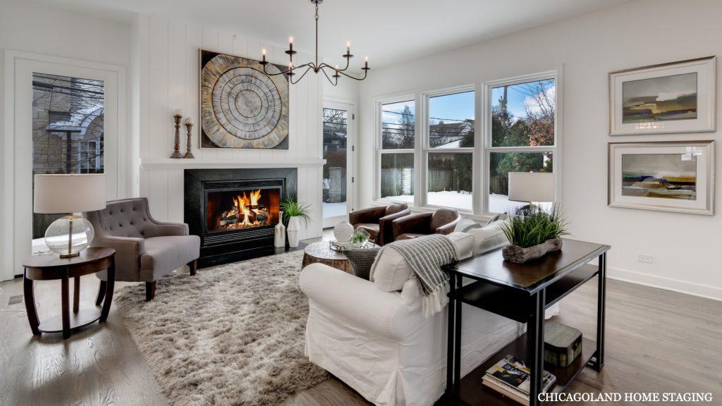 Chicagoland Home Staging Living Room Geneva