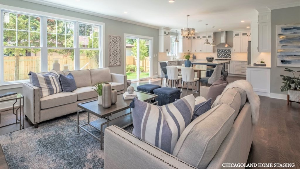 Top Rated Chicagoland Home Staging Family Room Dining Room Naperville