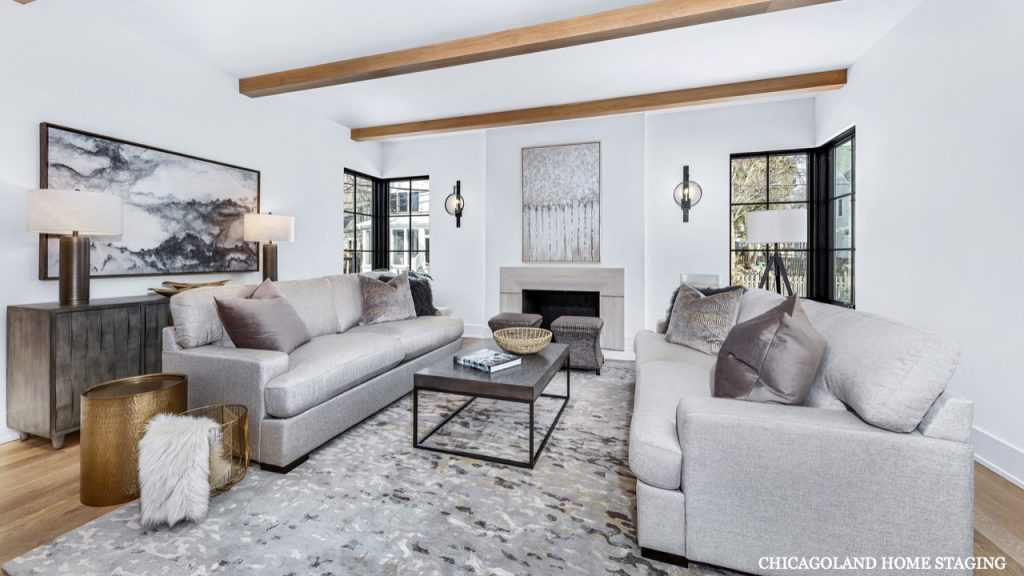 Top Rated Chicagoland Home Staging Family Room Naperville