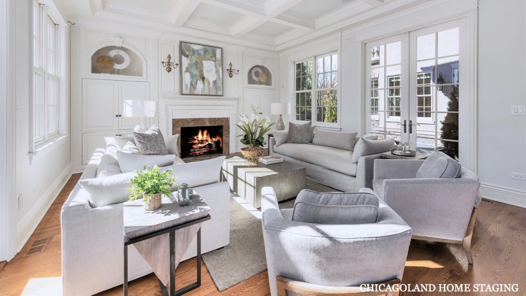 Chicagoland Home Staging Living Room Downers Grove