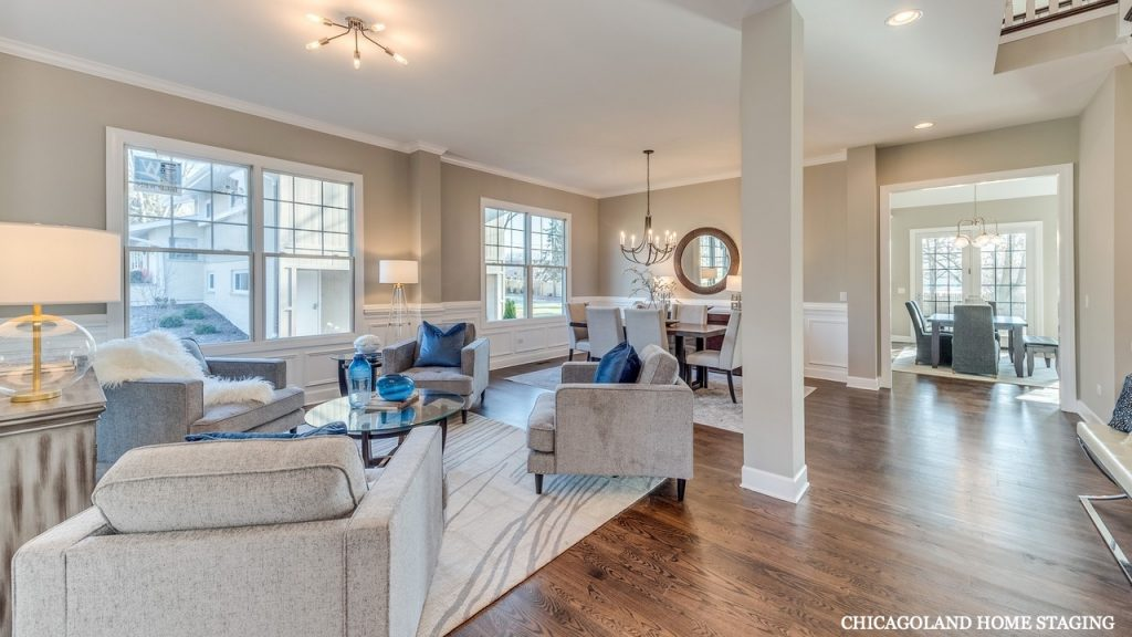 Chicagoland Home Staging Living Room Naperville St Charles