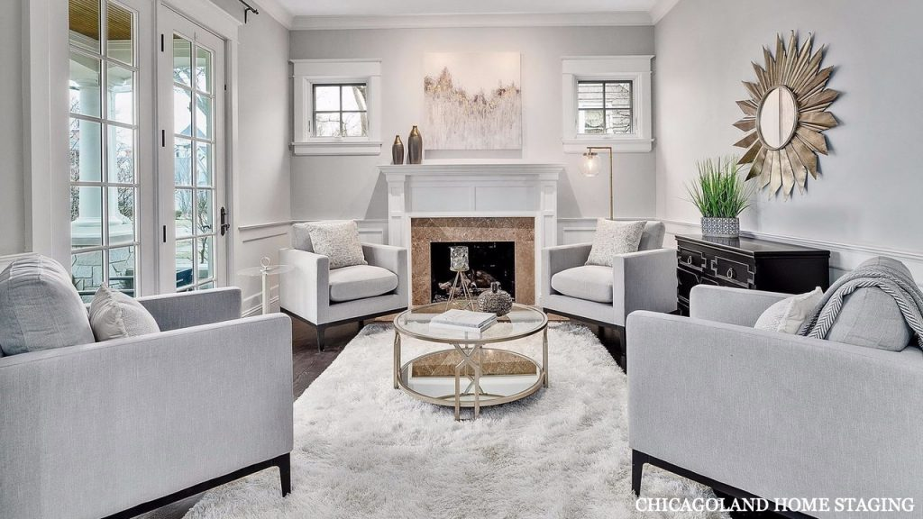 Chicagoland Home Staging Living Room St Charles