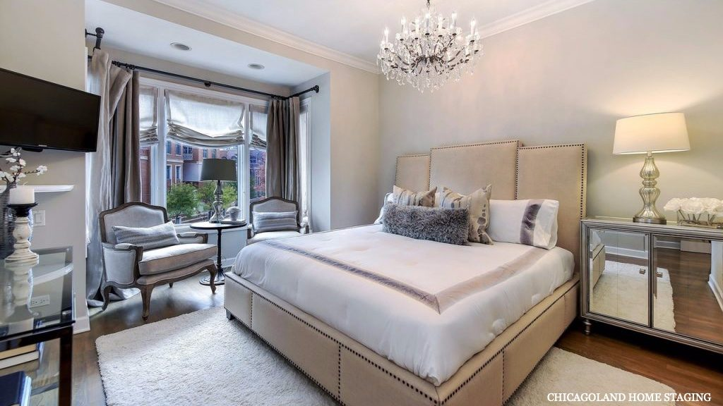 Chicagoland Home Staging Master Bedroom Naperville