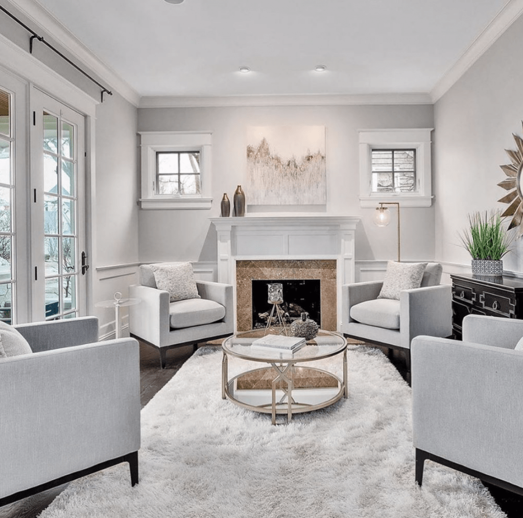 Chicagoland Home Staging Family Room Fireplace