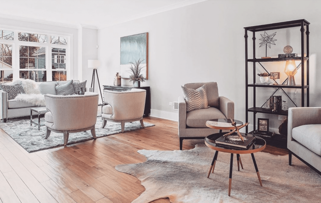 Chicagoland Home Staging Naperville Lighting Design Livingroom