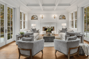 Chicagoland Home Staging Before and After Home Staging Makeover Family Room Naperville II