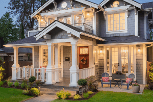 Chicagoland Home Staging Front Stoop Seating- Naperville