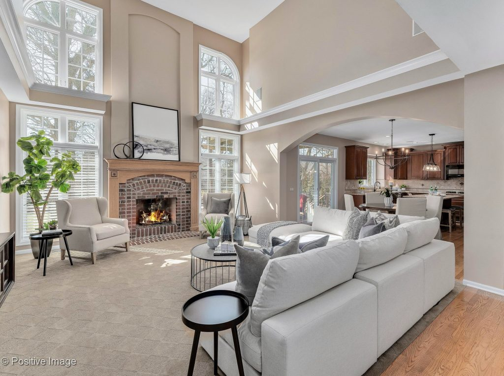 Chicagoland Home Staging Family Room Naperville