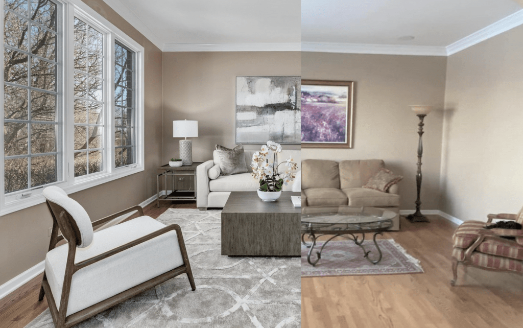 Chicagoland Home Staging Front Room Staging Naperville