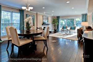 Stage An Open Space Dining Chicagoland Home Staging Naperville