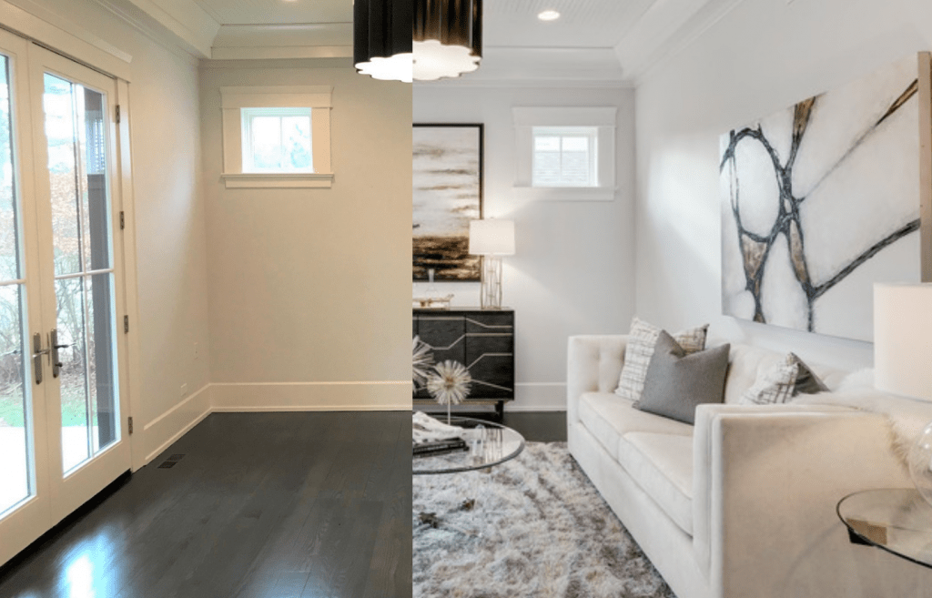 Chicagoland-Home-Staging-Sitting Room Staging Naperville