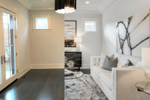 Chicagoland Home Staging Living Room Design Naperville